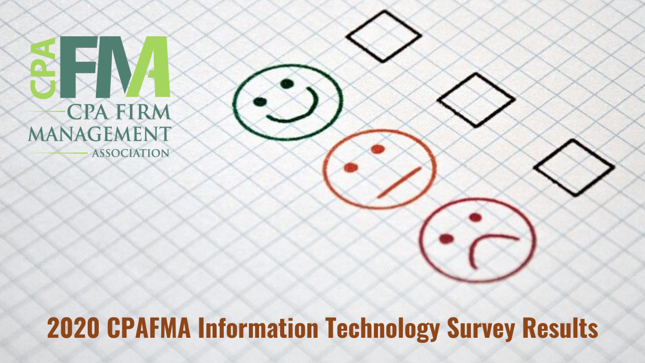 2020 CPAFMA Information Technology Survey Findings