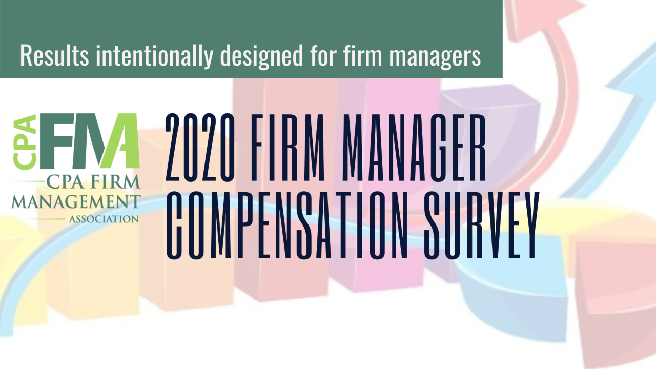 CPAFMA 2020 Firm Manager Compensation Survey