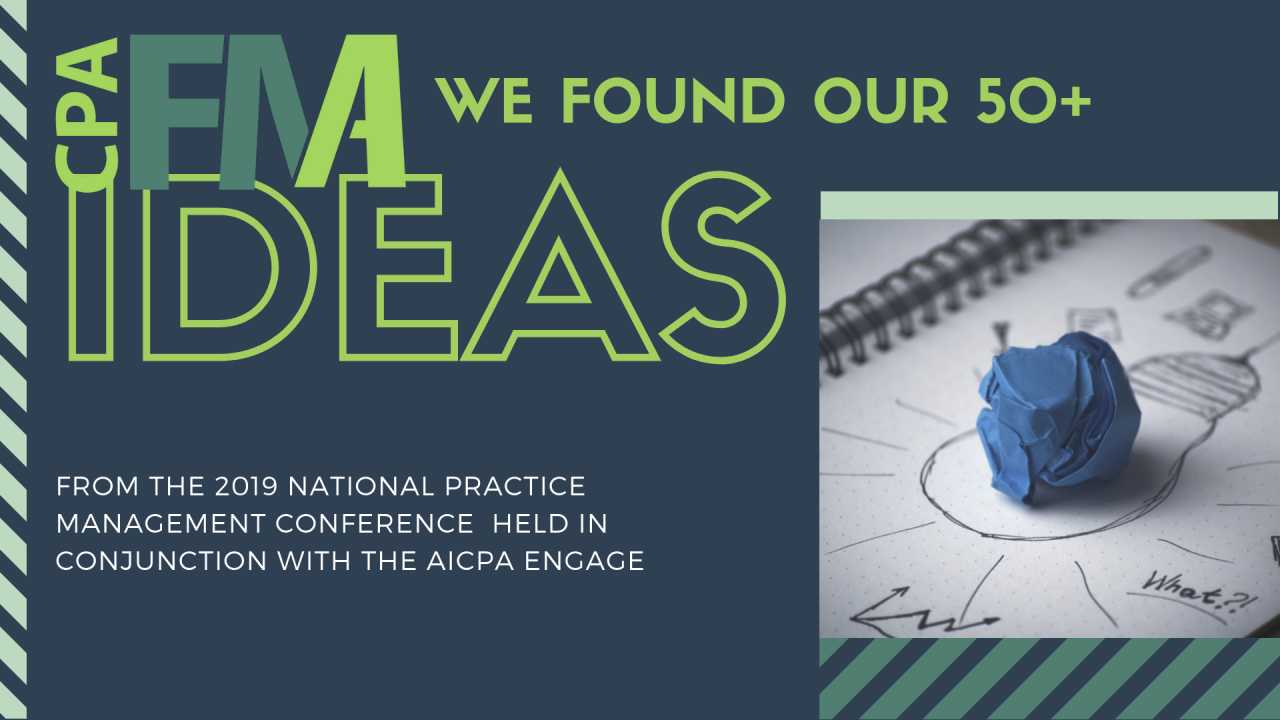 50 Ideas in 50 Minutes from the 2019 National Practice Management Conference