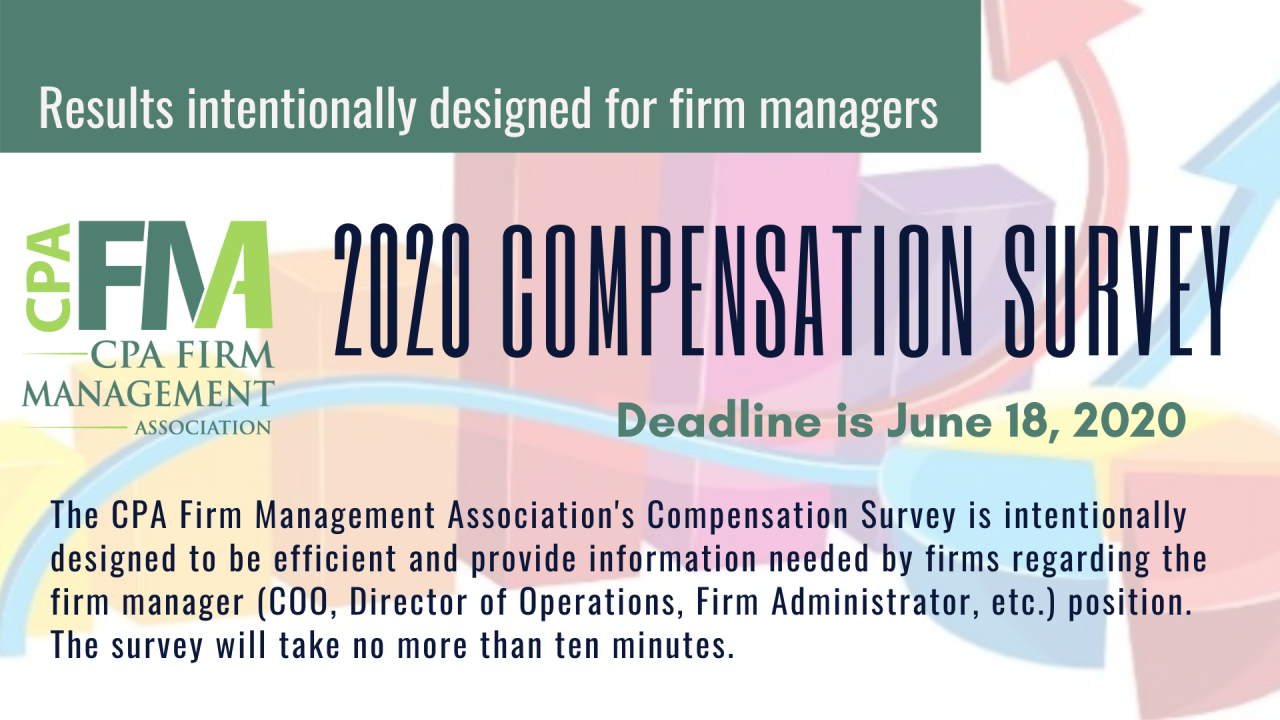 CPAFMA Launches 2020 Firm Manager Compensation Survey