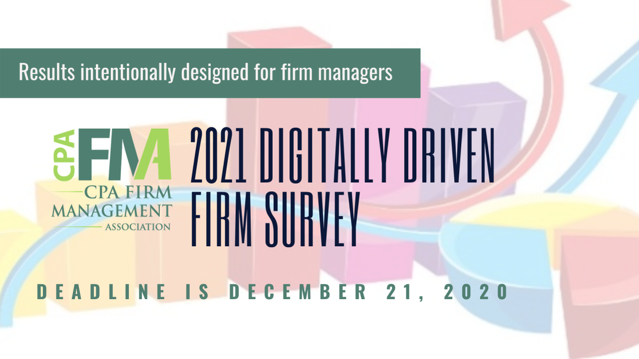 CPAFMA 2021 Digitally Driven Firm Survey Closes on December 21
