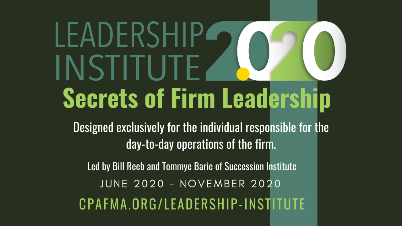 Leadership Institute 2.0 Accepting Applications