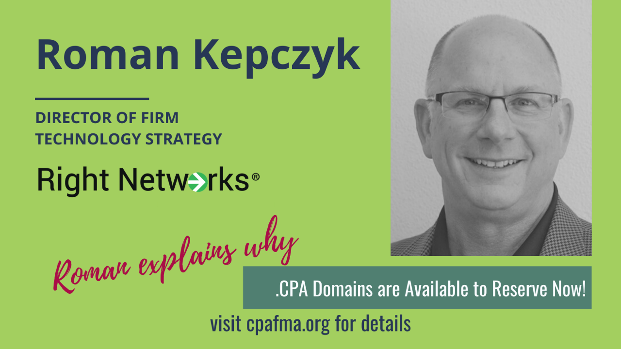 .CPA Domains Available for Firms to Reserve Now