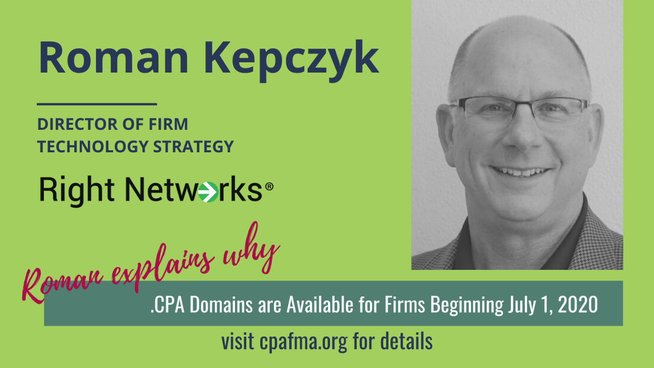 .CPA Domains Available for Firms Beginning September 1, 2020!