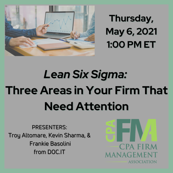 Lean Six Sigma: Three Areas in Your Firm That Need Attention