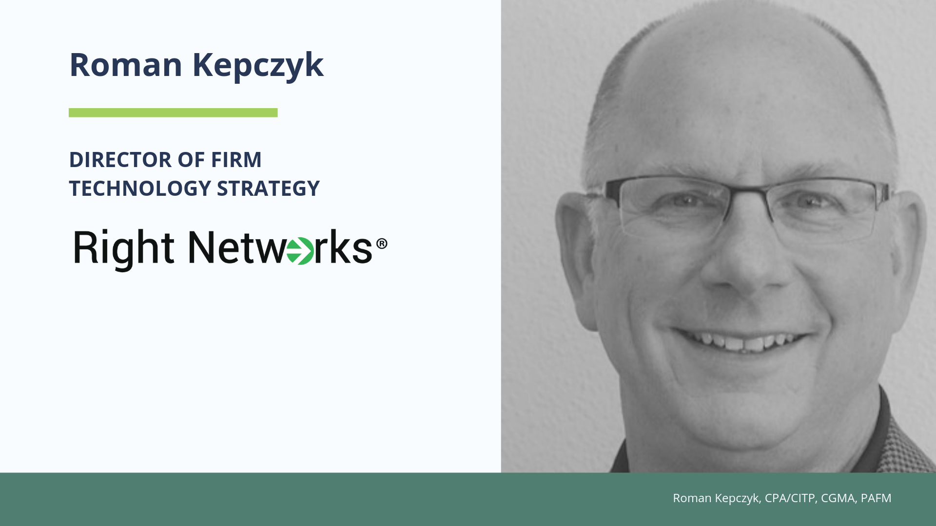 Roman Kepczyk Expands Role with Right Networks as Director of Firm Technology Strategy