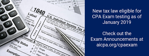 How will the 2017 tax law changes affect your firm's CPA Exam candidates?